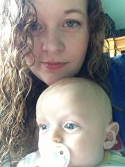 Jenn and her little man :)